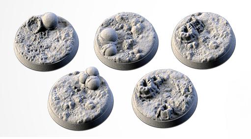 25 mm Bases 5 pack Alien design