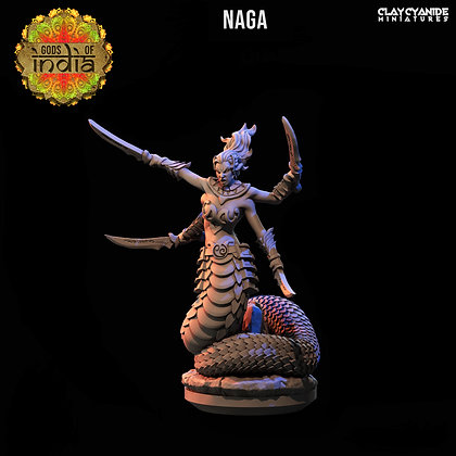 Naga with swords from Clay Cyanide Miniatures
