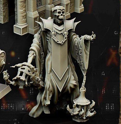 skeleton wizard from highlands miniatures