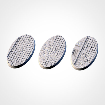 74mm by 43mm oval Bases 3 pack World War 2 design