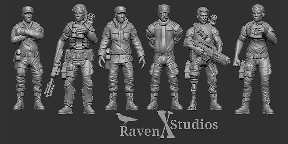 Colonial Marine Officers Pack From RavenX Studios