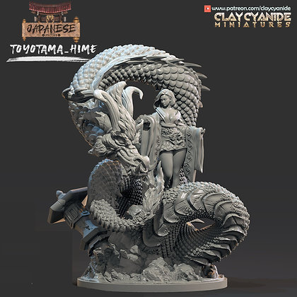 Toyotama Hime from clay cyanide miniatures