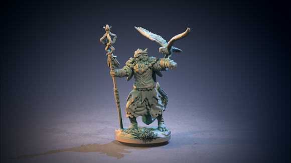 Dragonwolf Druid from clay cyanide
