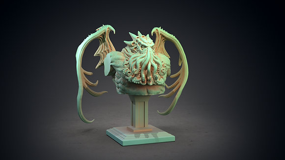 Cthulhu Bust by clay cyanide miniatures