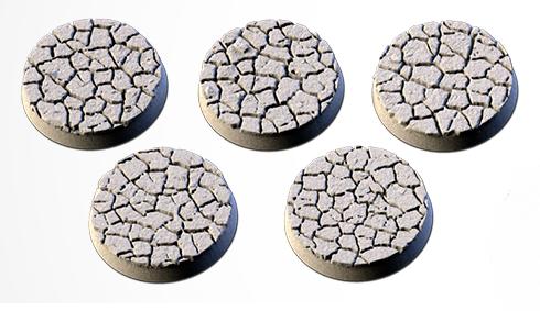25 mm Bases 5 pack Desert design