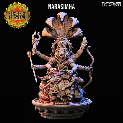 Narasimha from Clay Cyanide Miniatures