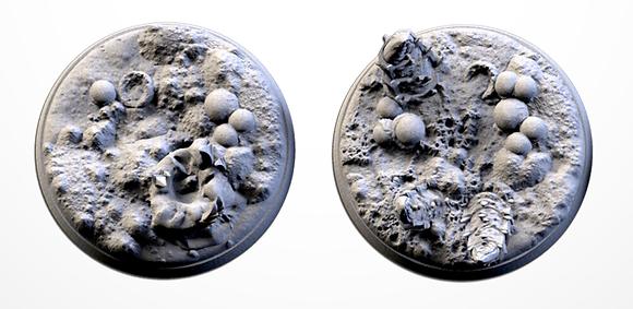 50mm bases 2 pack Alien design