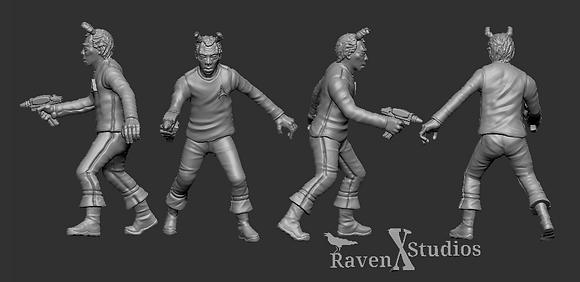 Andorian  Crewman from RavenX Studios