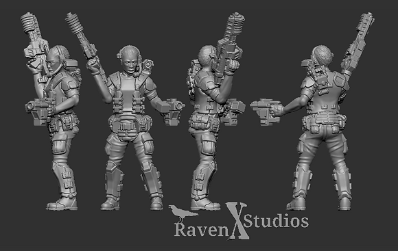 Aliens Colonial Marine with motion sensor version 2 From RavenX Studios