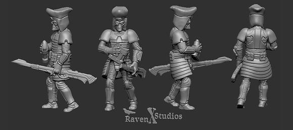 Alien Gunnery Commander from RavenX Studios
