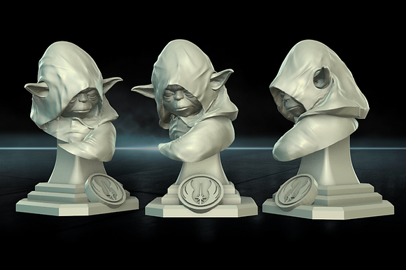 Frog Space Wizard Bust From Warblades studios