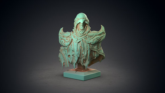 Hastur Bust by clay cyanide miniatures