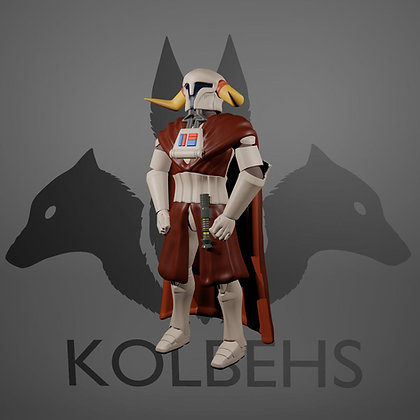 Horned King From Kolbehs Painting and Design