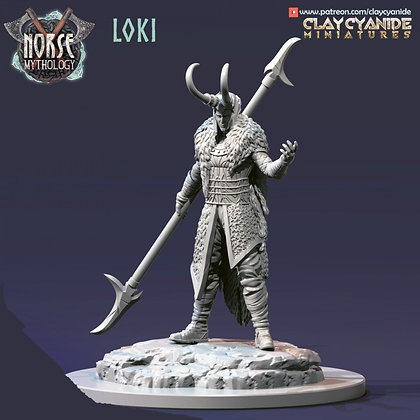 Loki from Clay Cyanide miniatures