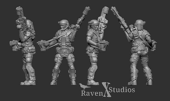 Aliens Colonial Marine with motion sensor version 1 From RavenX Studios
