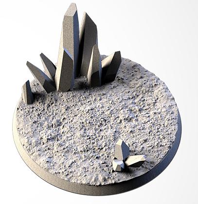 63mm base CRYSTAL XENOS design