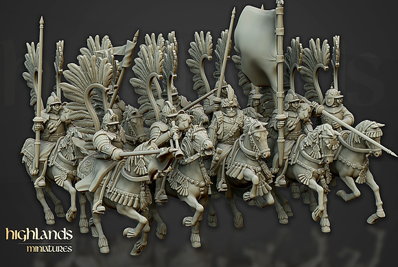 Sunland Imperial Winged Hussar Unit by Highlands Miniatures