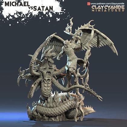 Michael vs Satan from clay cyanide miniatures