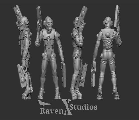 Tau Air Caste Pilot Version 1 from RavenX Studios
