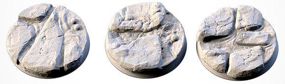 40mm bases 3 pack volcanic design