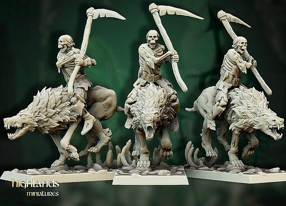Direwolf Zombie Rider from Highlands miniatures