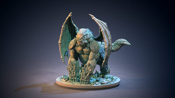 Winged Ape from clay cyanide