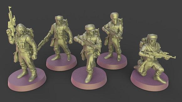 Rebel troops from Warblade studio