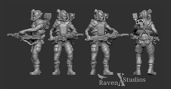 Colonial Marine Smart Gunner from RavenX Studios