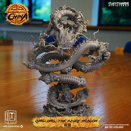 qinglong The Azur Dragon from clay cyanide