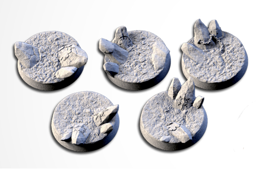 25 mm Bases 5 pack Chaos Hell design