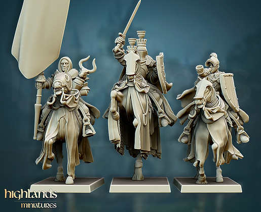 GRAIL KNIGHTS COMMAND GROUP from Highlands Miniatures