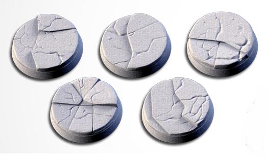 25 mm Bases 5 pack Frozen design