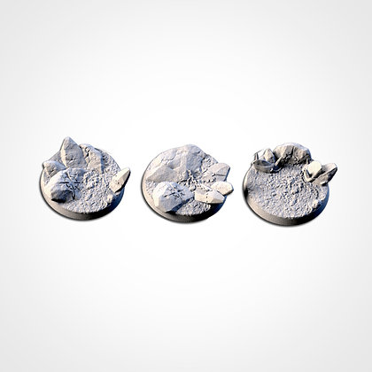 40mm bases 3 pack Chaos Hell design