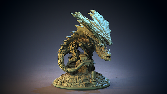 Golden Dragon from clay cyanide