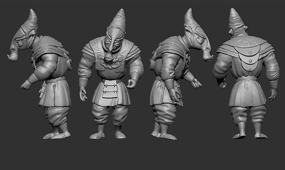 Humanoid Alien General from RavenX Studios