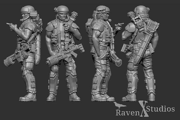 Corporal Dwayne Hicks from RavenX Studios