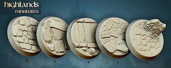 Round 25 mm bases 10  pack by highlands miniatures
