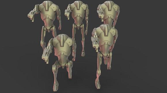 Elite battle droids by Warblades studio