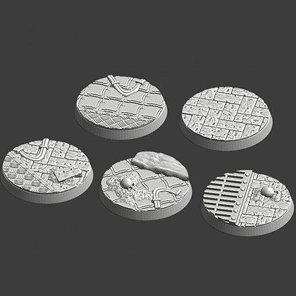 40mm Bases 5 pack medieval design