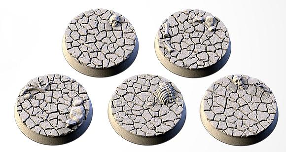 32mm bases 5 pack Desert design