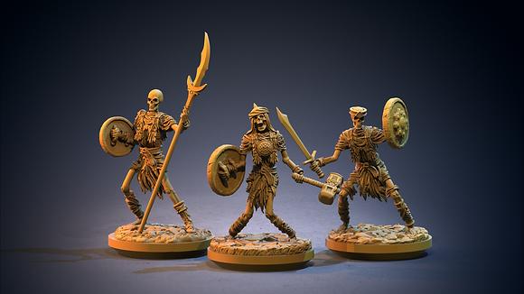Skeleton Warriors By Clay Cyanide