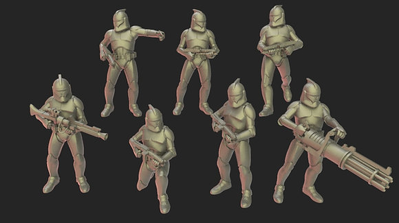 Republic troops by Warblade studio