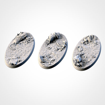 74mm by 43mm oval Bases 3 pack Forest design