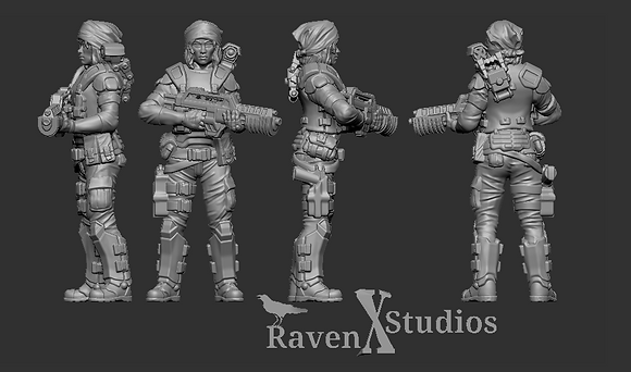 Aliens Colonial Female Marine version 2 From RavenX Studios