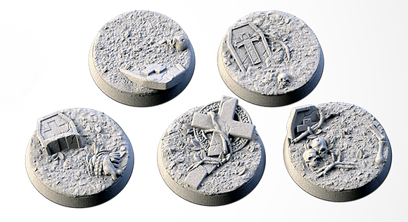 32mm bases 5 pack Graveyard design