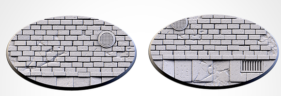 89mm by 52mm oval Bases 2 pack World War 2 design