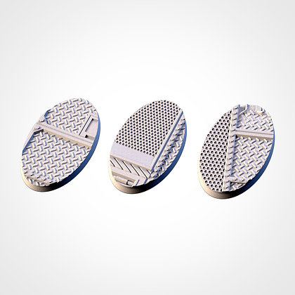 74mm by 43mm oval Bases 3 pack Factory design