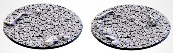 89mm by 52mm oval Bases 2 pack Desert design