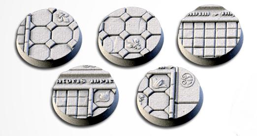 25 mm Bases 5 pack Royal Palace design