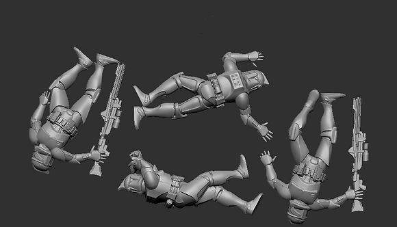 Dead squad of Troops from RavenX Studios
